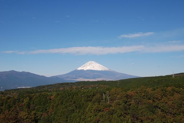 吊橋建設予定場所からの富士山(11月撮影)