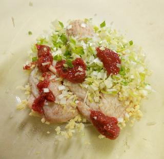 レンジで作れる鶏手羽先の梅風味スープ4