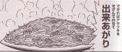 キャベツと玉ネギとベーコンのスパゲティ図