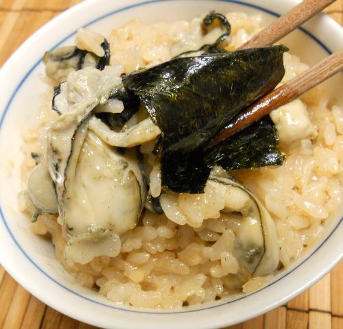 オイスターソース風味のカキ飯7