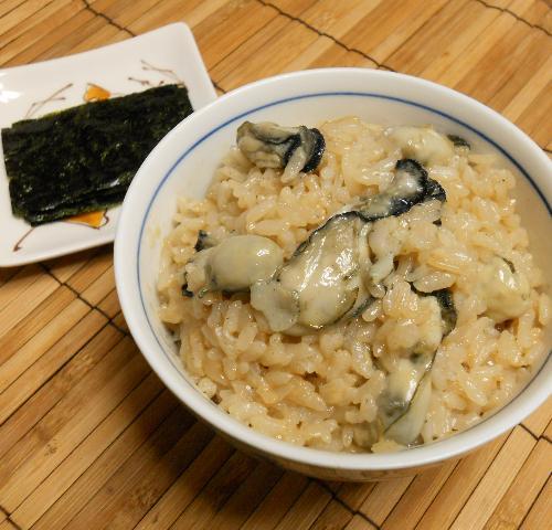 オイスターソース風味のカキ飯6
