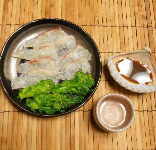 菜の花とタイの昆布締め棒寿司10