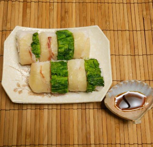 菜の花とタイの昆布締め棒寿司19