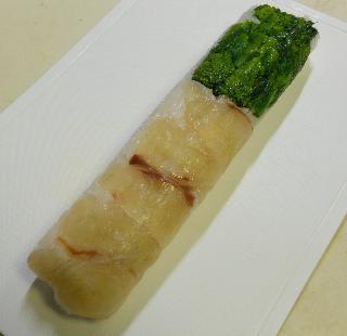 菜の花とタイの昆布締め棒寿司18