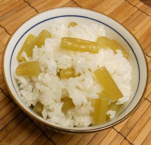ほろにが蕗ご飯&蕗の葉とじゃこの炒め煮12