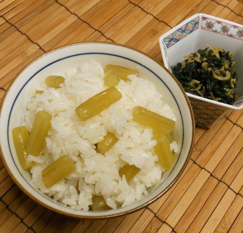 ほろにが蕗ご飯&蕗の葉とじゃこの炒め煮11