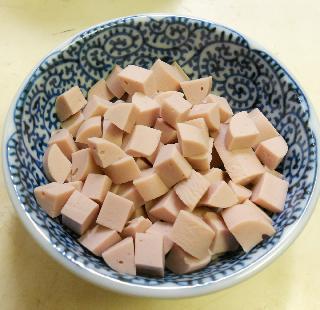 魚肉ソーセージチャーハン1