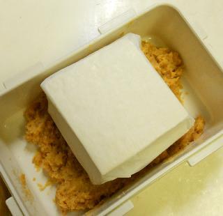 蜆肉飯と味噌漬け豆腐2