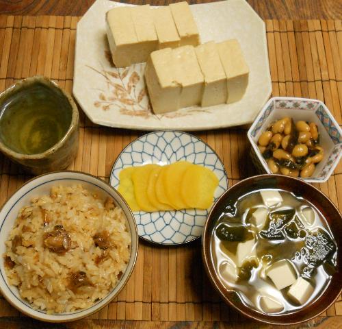 蜆肉飯と味噌漬け豆腐16