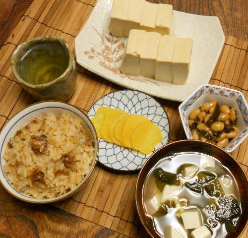 蜆肉飯と味噌漬け豆腐17