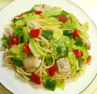 鶏と野菜のお月見スパゲティ6