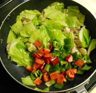 鶏と野菜のお月見スパゲティ3