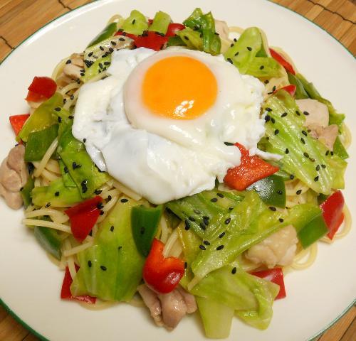 鶏と野菜のお月見スパゲティ10