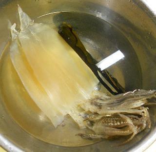 思い出の里芋煮&スルメのイカフライ1