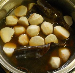 思い出の里芋煮&スルメのイカフライ6