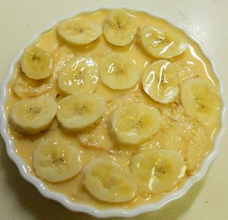 バナナブレッドのプディング5