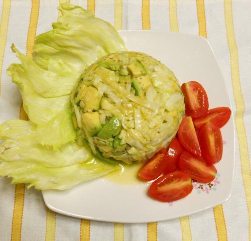 アボカドとトマトとレタスのザワークラウトサラダ9