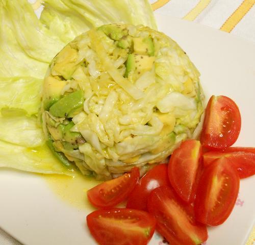 アボカドとトマトとレタスのザワークラウトサラダ10