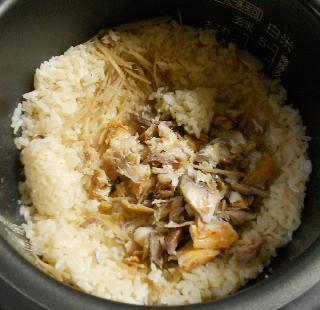 アジの開き炊き込みご飯5