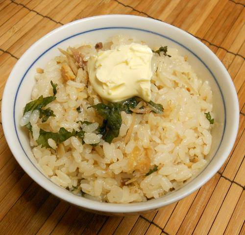 アジの開き炊き込みご飯10