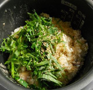 アジの開き炊き込みご飯6