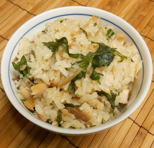アジの開き炊き込みご飯8