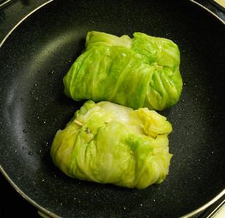 春キャベツ包みチャーハン10