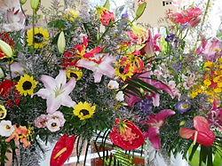 パーティ会場のお花