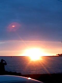 コナ アリイドライブからの夕陽