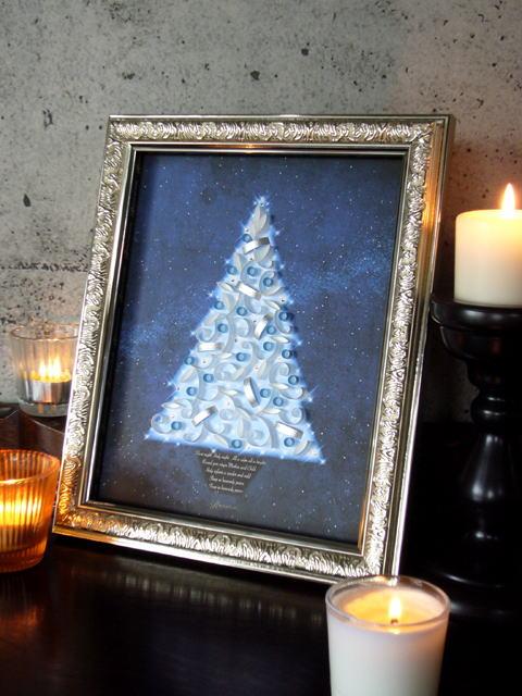 クリスマス(インチサイズ)ブルー