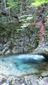 乙女渓谷の件の滝壺