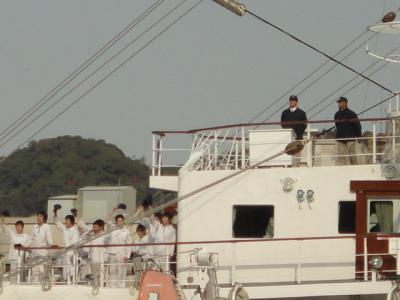 船からの挨拶