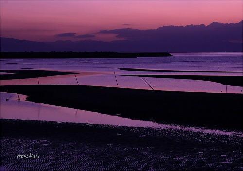 真玉の夕景