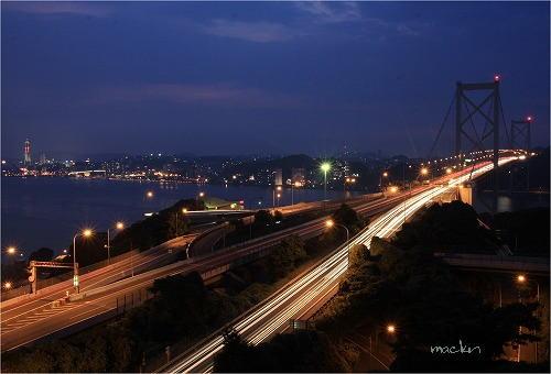 関門橋夜景