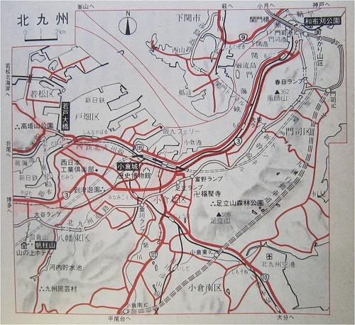 北九州市周辺図