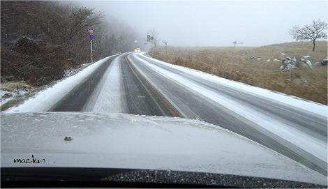 積雪の国道