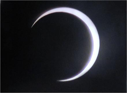 金環日食部分日食へ