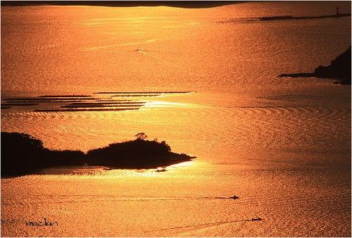 九十九島の黄昏