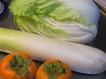 白菜大根柿