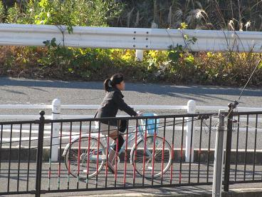 自転車で児童館へ