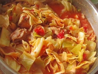 鶏肉キャベツトマト煮
