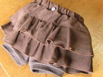 スパッツ付ミニスカート