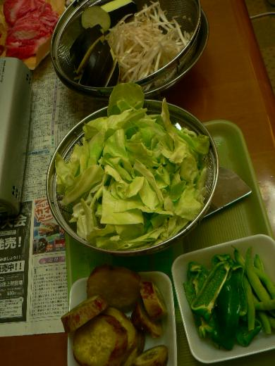 2011年8月4日夕食