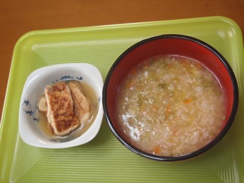 雑炊と厚揚げ煮