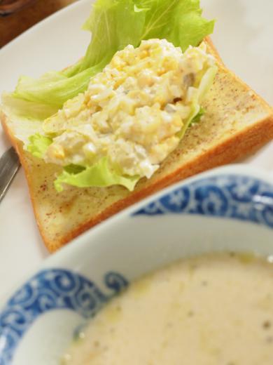 タマゴサンドとスープ