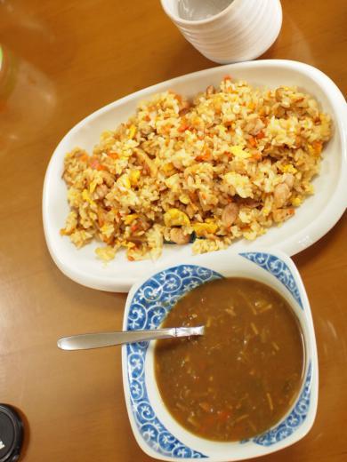 カレースープと炒飯