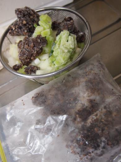 冷凍しているブラウンマッシュルーム