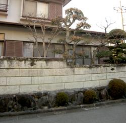 H-外構大谷石塀01