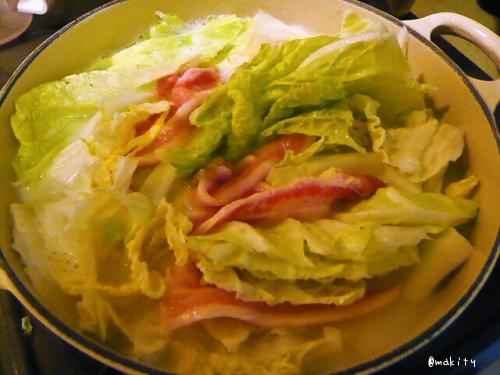 と豚と白菜の豆乳鍋2