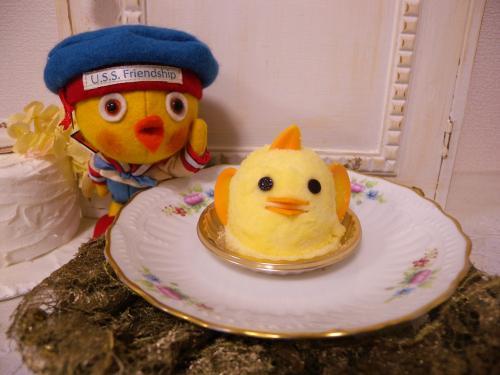 ひよこプリンケーキ